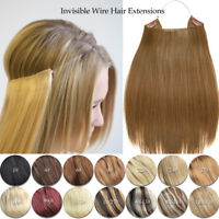 16-30 inches Halo 100%real Remy Human Hair Hidden Invisible Wire Hair Extensions