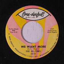 FIVE DU-TONES: We Want More / The Woodbine Twine 45 Soul