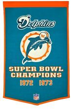 Miami Dolphins Super Bowl Banner Dynasty Championship Pennant Flag