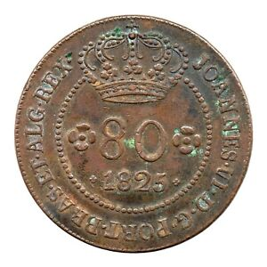 KM# F1 - 80 Reis - João VI - São Tomé and Príncipe 1825