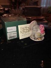 Harmony Kingdom Gobblefest Turkey Uk Made Marble Resin Box Figurine