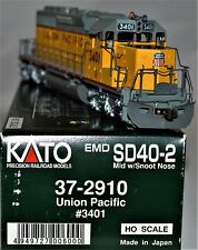 "Kato HO 37-2910 Union Pacific EMD SD40-2 ""Snoot"" #3401 Details Added F/P"