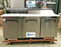 "NEW 72"" Commercial Refrigerator Model KSR72B Sandwich Salad Pizza Prep Table NSF"