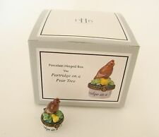 Midwest of Cannon Falls Porcelain Hinged Box Mini A Partridge on a Pear Tree PHB