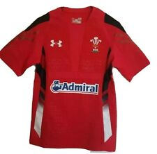 Under Armour Welsh Wales Rugby Union Training Jersey Mens HeatGear Home Kit WRU