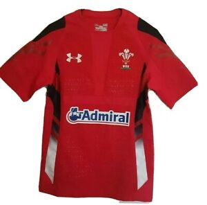 Under Armour Welsh Wales Rugby Union Training Jersey Mens HeatGear Home Kit WRU.