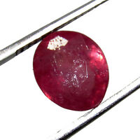 3.10Cts Oval Cut Natural Transparent Pink Madagascar Ruby Loose Gemstone CH6839