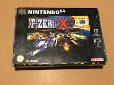 Boxed N64 game F-Zero X with instructions pal version retro