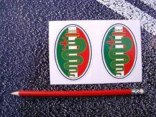 ALFA ROMEO Style Stickers 80mm Brera Mito Spider 159 166 Alfasud Motorsport