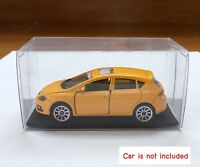 1/64 Plastic Display Box with Base 4x4x8cm (Pack 10) Hotwheel Tomica Majorette