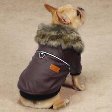 Waterproof Winter Luxury Dog Leatherette PVC Fleece Lined Coat Jacket S-XXL