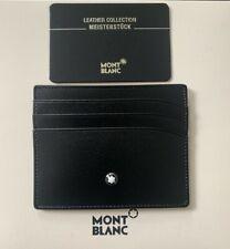 New Montblanc Meisterstuck Cardholder Wallet Black 6cc 106653