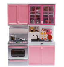 Children Electric Kitchen Pretend Role Play Cooker Cooking Cabinet Sound Toy Set