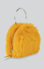 Whistles -- Mustard Faux Fur Purse - Mustard  - New With Tag