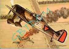 Fokker D-XX - hollande - AVION -  Dessin de Francis Bergèse - ouest-france