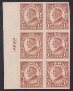 576 - 1½¢ Imperf 4th Bureau Flat Plate Printing Plate Block - VF-XF NH - CV $45
