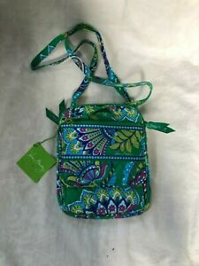 Vera Bradley Mini Hipster Emerald Paisley Purse Pocketbook New with Tags