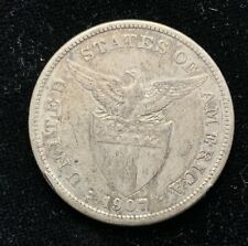 1907s US-Philippines 1 Peso Silver Coin - lot #13