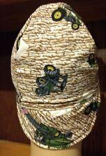John Deere Rock Wall Handmade 100% cotton, Welding Biker,6 1/2 to 8,4 panel hat
