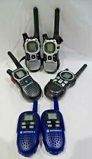 Lot of 6 Motorola Walkie Talkies Fv300 Mj270R Em1010Tpr Mr350R