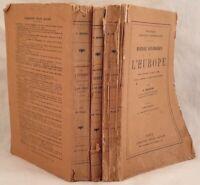 DEBIDOUR HISTOIRE DIPLOMATIQUE DE L'EUROPE 1919 STORIA DIPLOMATICA DIPLOMAZIA