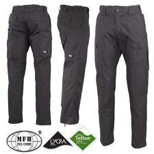 Pantaloni Pants MFH Ripstop Teflon Lycra Impermeabili Caccia Outdoor Militare GY