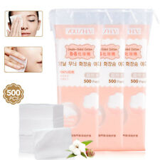 500PCS coton organique tampons vernis à ongles Remover maquillage facial Pad