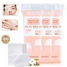 500PCS Organic Cotton Pad Nail Polish Remover Makeup Tissue Facial Cleaning Pad