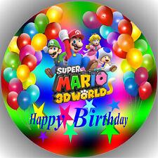 Esspapier Tortenaufleger Tortenbild Geburtstag Super Mario T10  ( w )