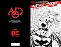 JUSTICE LEAGUE VS SUICIDE SQUAD #1 AOD COLLECTABLES WITTER B&W LIMITED COVER DC