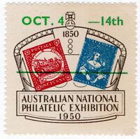 (I.B) Australia Cinderella : National Philatelic Exhibition 1950 (overprint)