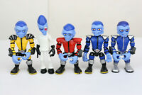 Lot of 5 Hasbro Butt Ugly Martians 2001 Action Figures