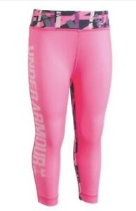 $26.99 Girls Under Armour Pink Punk   Size 6X  leggings A23