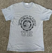 Vintage 80s University of HAWAII crest t-shirt soft Heather gray size Large