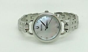 Bulova Stainless Steel & Mother-of-Pearl Heart Bracelet Watch 96X126  (44E)