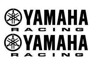 2 YAMAHA RACING VINYL STICKERS - 280 x 76mm, 2 x YAMAHA DECALS - 18 COLOURS