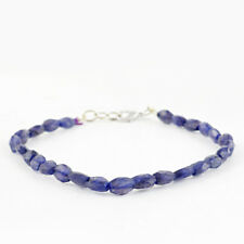 Blue Tanzanite 44.00 Cts Earth Mined Faceted Genuine Beads Hand Made Bracelet