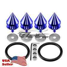 Blue Spike Quick Release Fasteners For Car Bumpers Trunk Fender Hatch Lids Kit