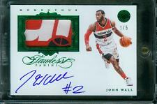 1/5=1/1 John Wall 15-16 Flawless Momentous Emerald Patch Auto Autograph Wizards