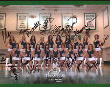 BOSTON CELTICS DANCERS 13-14 HAND SIGNED 8x10 COLOR PHOTO+COA      SIGNED BY ALL