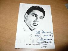 FOTOGRAFIA IN BIANCO E NERO CLAUDIO VENTURELLI CON AUTOGRAFO ORIGINALE 1955