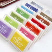 Rubber Stamps Craft Pigment Ink Pad For Paper Wood Fabric 9Colours Craft DIY New