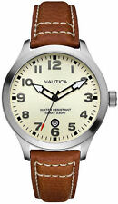 Men's Nautica Brown Leather Strap Watch N09560G