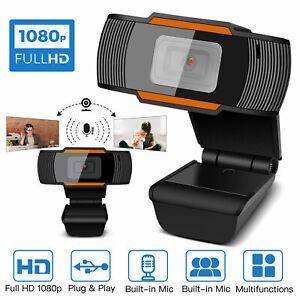 USB Webcam 1080p HD mit Mikrofon WebKamera für Videochat Aufnahme PC Windows