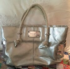 """""""KATE SPADE"""" AUTHENTIC Tote Purse Silver Rope Handles CLASSIC"""