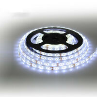Super Bright DC12V 16.4ft 5M SMD 2835 600LEDs Strip Waterproof Light Cool White