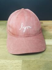5e0d087b20bf2 Love Your Melon lym Baseball Hat Cap Distressed Pink Adjustable Excellent  Cond