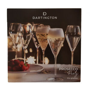 Dartington Prosecco Glasses Party Pack of Six Serve Champagne or Sparkling Wines