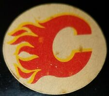 VINTAGE 1970s  VICEROY OFFICIAL GAME  PUCK Calgary  Flames NHL MADE IN CANADA