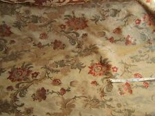 SCALAMANDRE 100%SILK LAMPAS LOUIS XV RED MULTI ON LIGHT GOLD BTY MSRP$499/Y